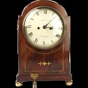 Oak & Mahogany Bothamley Boston Mantle Clock