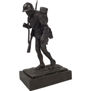 Robert Truscott Bronze Figure Of A WW2 Russian Infantryman Ltd Ed. 8/15