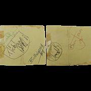 Rolling Stones Full Band Autographs Inc. Brian Jones c1960's