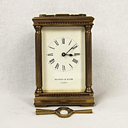 Mappin & Webb Brass Carriage Cased Clock – G.W.O.