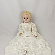 Late 19th Century Poured Wax Head Doll