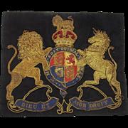 Victorian Royal Navy Royal Arms Bullion Banner