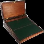 19th Century Large Mahogany Writing Slope