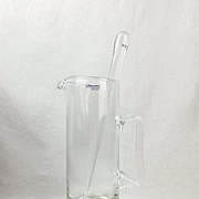 Broadway Krosno Sterling Silver And Hand Blown Glass Jug And Stirrer