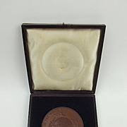 1851 Great Exhibition Bronze Exhibitors Medallion In Box