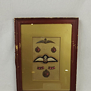 Framed Royal Flying Corps Officers Badge Set #1