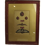 Framed Royal Flying Corps Officers Badge Set #2