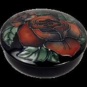 Moorcroft Lidded Red Rose Bowl Ltd Ed. 141/500 1994