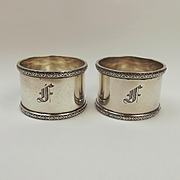 Pair Of Silver Napkin Rings c.1926