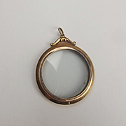 9ct Yellow & Rose Gold Double Faced Open Locket Pendant