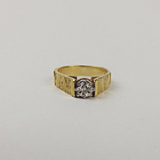 18ct Yellow Gold Diamond Solitaire Ring UK Size L+ US 6