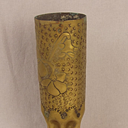 WW2 Trench Art Floral Vase