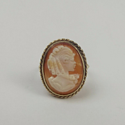 9ct Yellow Gold Cameo Ring UK Size S US 9