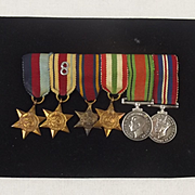 WW2 Impressive Set Of 8th Army Miniature Medals