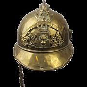 1920's French De La Vendee Fireman's Helmet