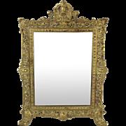 Victorian Brass Framed Mirror