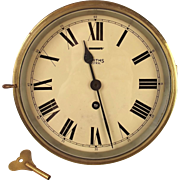 Smiths Astral Brass Ships Bulkhead Clock