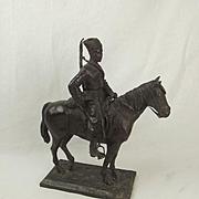 Robert Truscott Large Bronze Figure - WW1 Horse Mounted Cossack - Ltd Ed. 3/15