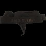 HMS Durban Royal Navy Pre-War Dot Full Length Cap Tally