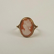 9ct Yellow Gold Cameo Ring UK Size K+ US 5 ½