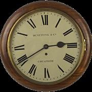 Circa 1860 Victorian Mahogany Wall Clock By Benetfink & Co.
