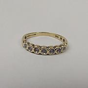 9ct Yellow Gold Diamond Ring UK Size L+ US 5 ⅞