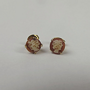 Pair Of 9ct Yellow Gold Cameo Stud Earrings