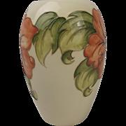 Moorcroft Hibiscus Pattern Ceramic Vase
