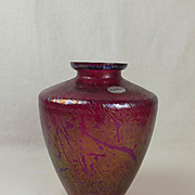 1960's Royal Brierley Glass Vase