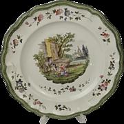 18th Century Veuve Perrin Plate #1