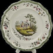 18th Century Veuve Perrin Plate #5