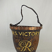 HMS Victory Leather Fire Bucket Dated 1805