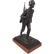 Robert Truscott Large Bronze Figure Of A WW2 Stalingrad German Infantryman