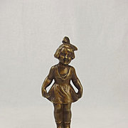 Circa 1920's Dancing Girl Car Mascot By Tuche
