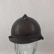 Rare WW1 Czechoslovak Legion Adrian Helmet