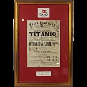 Framed White Star Line Titanic Railway Warrant For David John Bowen