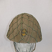 WW2 Japanese Officers Helmet Of The Kamikaze Boat Division