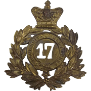 Victorian 17th Regiment Of Foot Shako Plate