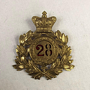 Victorian 28th Regiment Of Foot Shako Plate