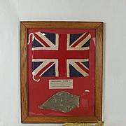 Framed Piece Of Donald Campbells Bluebird K7 Plus Brass Model
