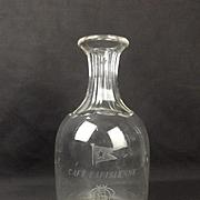 Original RMS Titanic Café Parisienne Glass Decanter