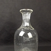 Original RMS Titanic Café Parisienne Glass Decanter