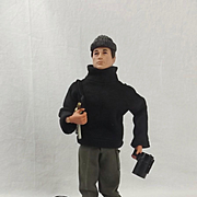 1970's Palitoy Action Man Figure With Sabotage Uniform