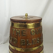Queen Elizabeth II Royal Navy Oak Rum Tub