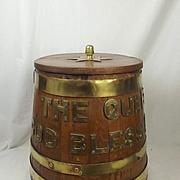 Queen Elizabeth II Royal Navy Oak Rum Tub