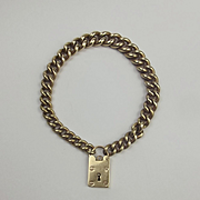 9ct Yellow Gold Chain Bracelet With Padlock Clasp