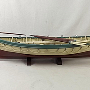 Hand Built Wooden Model Of RMS Titanic Life Boat No. 14