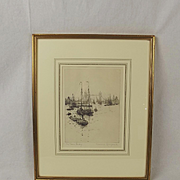 Rowland Langmaid Signed & Framed Etching Of Tower Bridge
