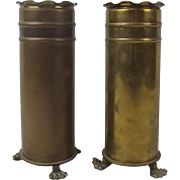 WW1 Pair Of Trench Art Shell Cases