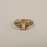9ct Yellow Gold Citrine Ring UK Size N+ US 6 ¾